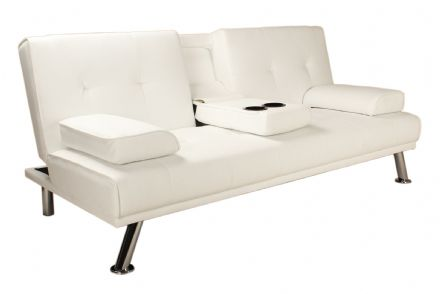 White Como Click Clack Sofa Bed